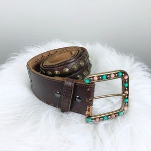 Ariat Limited Edition Studded Buckle Leather Belt